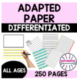 90+ pgs of ADAPTIVE PAPER for color & black/white printing k12345 & directions