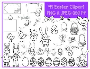 99 Cliparts de Pâques (printemps) [EASTER] [SPRING] [ILLUSTRATIONS]