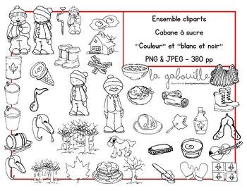 88 Cliparts pour le thème du temps des sucres! (images + fonds)