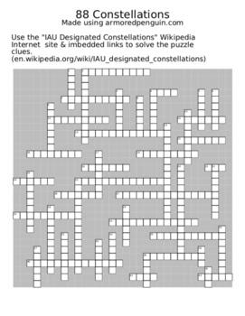 88 Constellations Crossword Puzzle