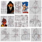 100 Coordinate Graphing Pictures | End of the Year | Math Mystery | Fun Activity