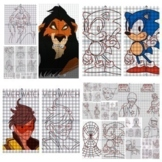 99 Coordinate Graphing Pictures | Math Puzzles | Art | Eme