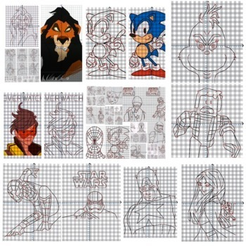 111 Coordinate Graphing Pictures | Math Mystery | Emergency Sub Plans | Art