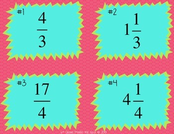 88 Mixed Number and Improper Fraction Game