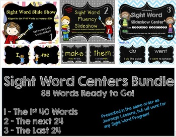 88 Sight Word Slideshow Bundle Self-Running with Audio