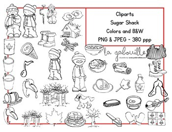 88 Sugar Shack Cliparts ! {Spring} {Sugar House} {Papers} {Images}