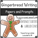 Gingerbread Writing Papers and Prompts