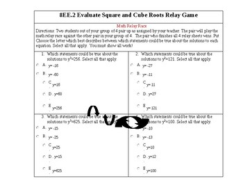 College Readiness Standard 8EE.2 Square and Cube Roots