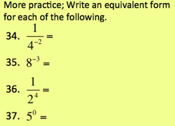8.EE.1 Intro to Zero and Negative Exponents (powerpoint)
