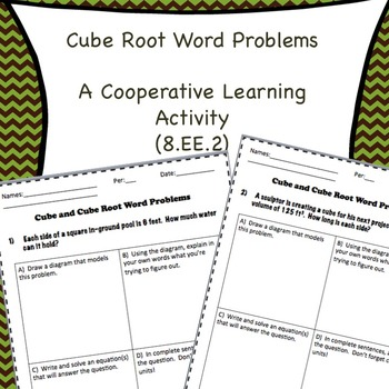 8.EE.2 Cube Root Word Problems
