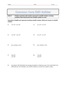 8.EE.A.4 - Common Core Math Skill Builder
