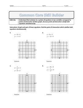 8.EE.C.8a - Common Core Math Skill Builder