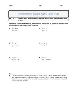 8.EE.C.8c - Common Core Math Skill Builder
