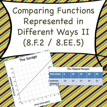 8f2 Comparing Functions Represented In Different Ways Ii By Out Of