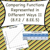 8.F.2 Comparing Functions Represented in Different Ways II