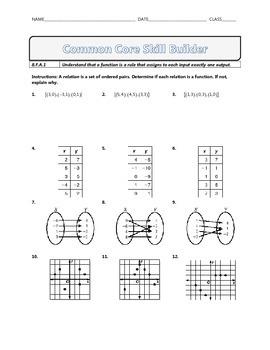 8.F.A.1 - Common Core Math Skill Builder