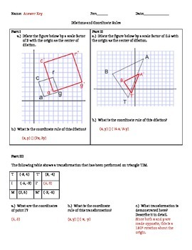 8.G.3 Dilations and Coordinate Rules