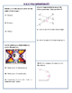 8.G.5 Common Core Pre-and-Post Assessment/Test