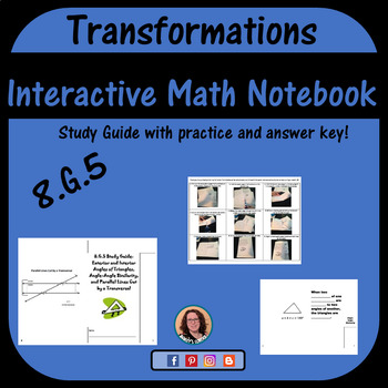 8.G.5 Study Guide For Interactive Notebook
