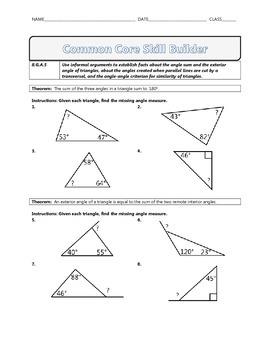 8.G.A.5 - Common Core Math Skill Builder