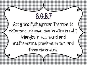 8.G.B.7 Pythagorean Theorem Bingo Game with Blank Bingo Cards