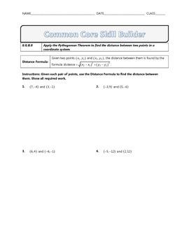 8.G.B.8 - Common Core Math Skill Builder