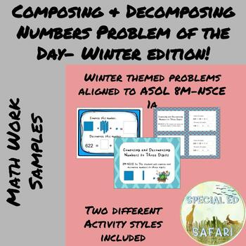 8M-NSCE 1a Composing and Decomposing Numbers Problem of the Day- Winter Edition!