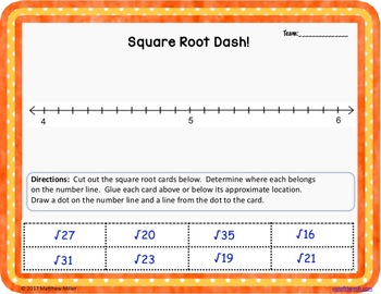 8.NS.2 Estimating Square Roots Cooperative Learning