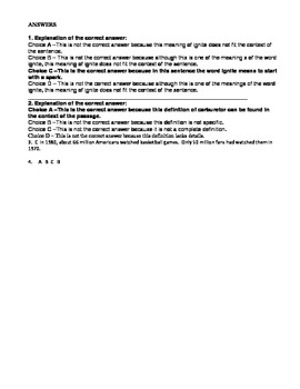 WEEK 1 8TH GRADE BELL RINGERS FOR READING & LA (FCAT PARCC COMMON CORE)