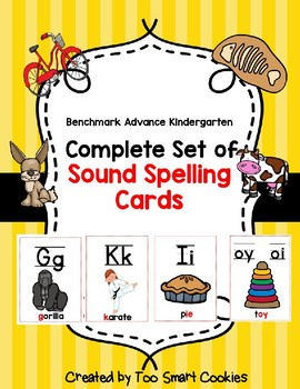 8a Benchmark Advance Complete Set of Sound Spelling Cards