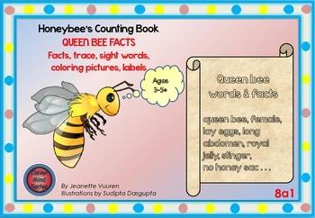 HONEYBEE FACTS:QUEEN BEE-DIFFERENTIATED WORKSHEETS-SET 1-LANDSCAPE-8a1