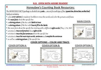 HONEYBEE FACTS:WORKER BEE-DIFFERENTIATED WORKSHEETS-LANDSCAPE-8c1