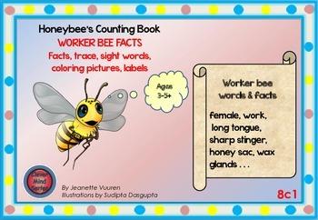 HONEYBEE FACTS:WORKER BEE-DIFFERENTIATED WORKSHEETS-LANDSCAPE-8c1
