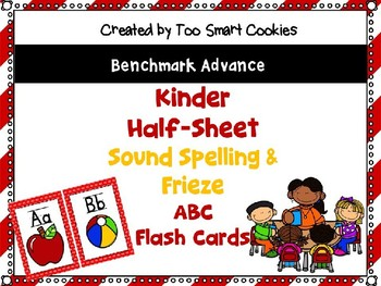 8d. Benchmark Advance Red Framed 1/2 sheet Sound Spelling & Frieze *Updated