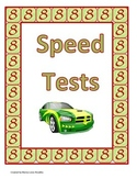 8's and 9's Multiplication Speed Tests