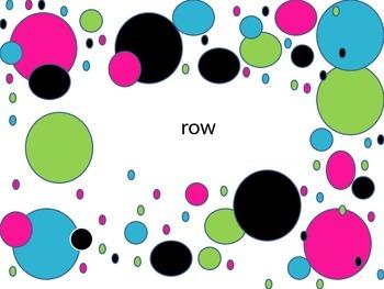 8th 100 Fry Sight Words neon polka dot theme