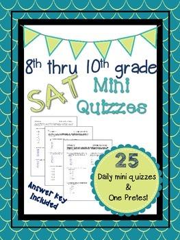 8th-10th Grade SAT Prep Mini Quizzes