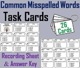 8th 7th 6th 5th Grade Spelling Practice Task Cards
