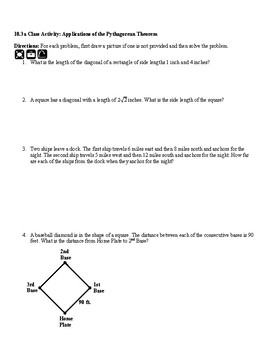 8th Applications of the Pythagorean Theorem
