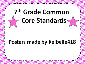 7th Common Core Math Standard Posters in Twisted Diamond