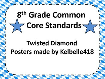 8th Common Core Math Standards in Twisted Diamond