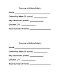 8th EL Module 1 Unit 2 Summary Writing Rubric