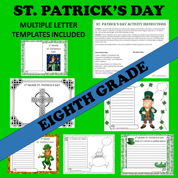 8th Eighth Grade St. Patrick's Day Writing Activities