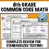 8th GRADE MATH: COMPLETE COMMON CORE REVIEW & PRACTICE!