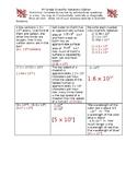 8th Grade 8NS Scientific Notation Tic-Tac-Toe