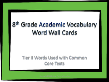 8th Grade Academic Word Wall Cards