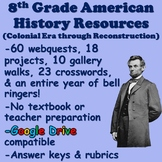 8th Grade American History Curriculum US History Resources