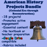 8th Grade American History Projects (US History) Bundle