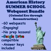8th Grade American History Summer School Webquest Bundle