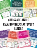 8th Grade Angle Relationships Activity Bundle